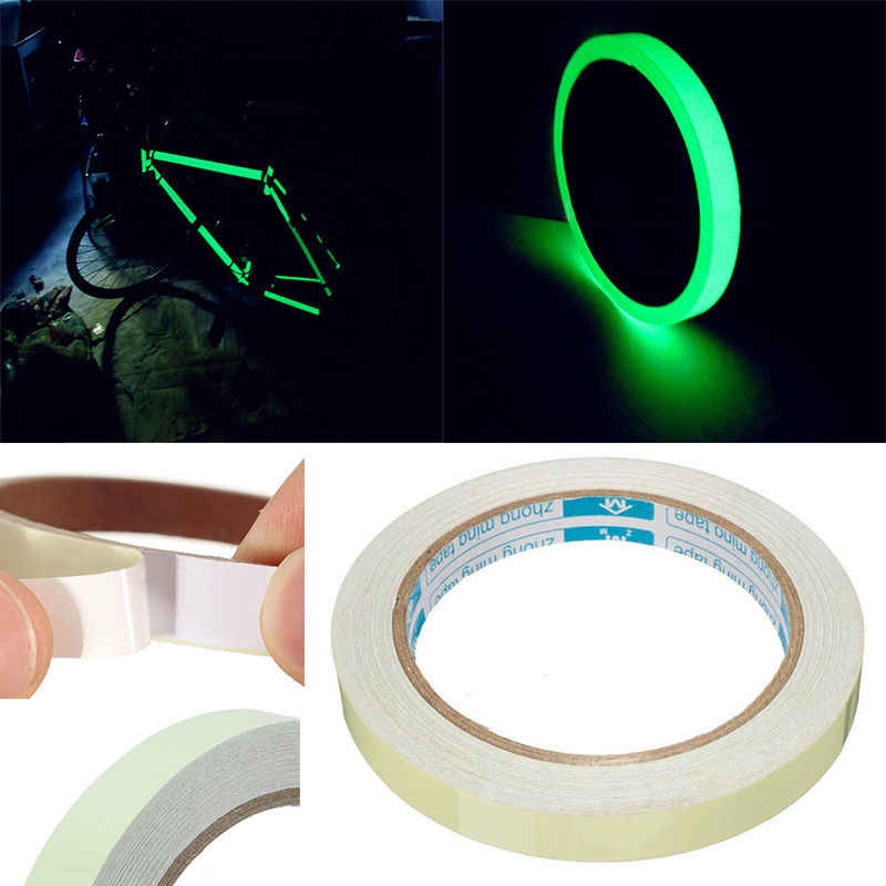 Raggi della bicicletta Nastro adesivo Nastro Luminescente Luminoso Glow In The Dark Fase di Sicurezza Sticker Accessori Per Biciclette Punta Di Sicurezza