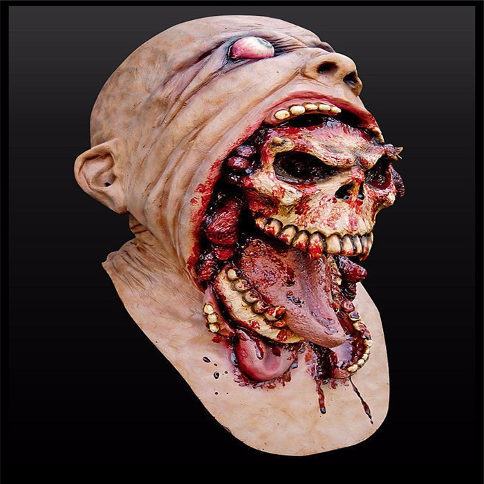 halloween party cosplay horror bloody zombie mask melting face adult latex scary devil mask costume walking - Halloween Scary Faces