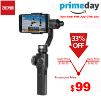 Zhiyun Smooth 4 Q 3 Axis Handheld Smartphone Gimbal Stabilizer for iPhone XS XR X 8Plus 8 7P 7 Samsung S9 S8 S7 & Action Camera