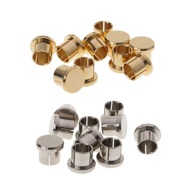 10Pcs Gold Plated Short Circuit Socket Phono Connector RCA Shielding Jack Socket Protect Cover Caps
