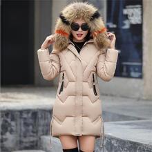 Winter woman coats New Winter Jacket Women Parkas for Coat Fashion Female Down Jacket With Hood Faux Raccoon Fur Collar Coat цена