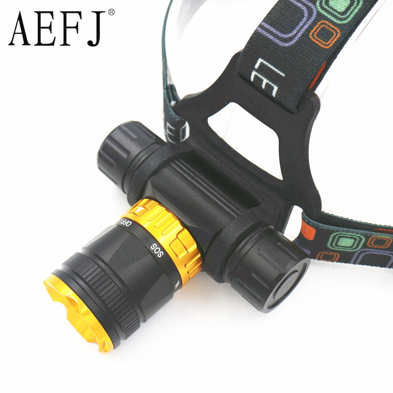 XML-T6 LED 5-Mode Dive Waterproof Scuba Diving Headlamp Headlight Underwater Work Flashlight Torch Light Lamp