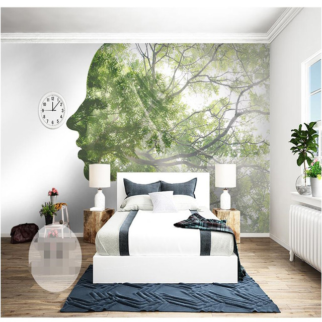 Custom Size Photo Background Wall Paper Abstract Art Line Scenery Art Wall  Covering BedRoom Mural Modern WallPaper Home Decor