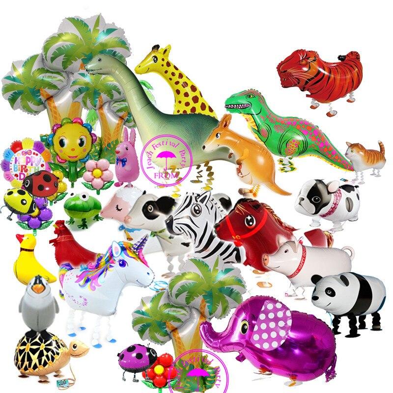 walking pet balloon helium animals airwalk duck horse pig dog cow dinosaur animal toys