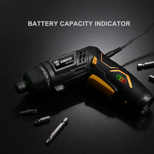 Image 5 - DEKO DCS3.6DU2 Cordless Electric Screwdriver DIY Household Rechargeable battery Screwdriver with Twistable Handle with LED Light