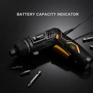 Image 5 - DEKO DCS3.6DU2 tournevis électrique sans fil bricolage ménage batterie Rechargeable tournevis avec poignée Twistable avec lumière LED