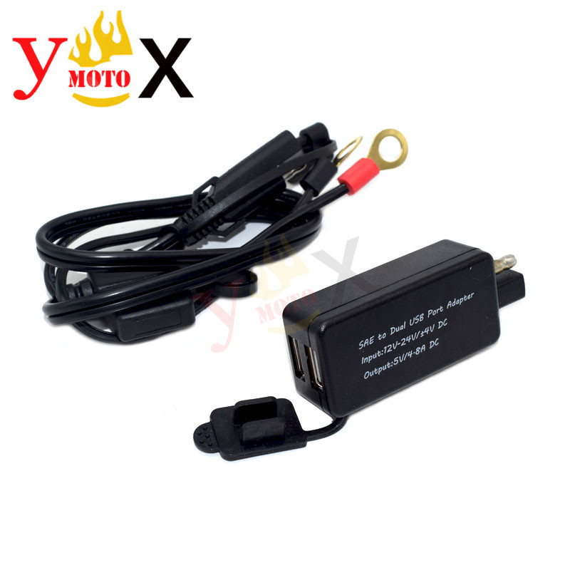 Motorcycle Dual USB Charger Voltmeter For Harley Tour Street Glide  Touring US