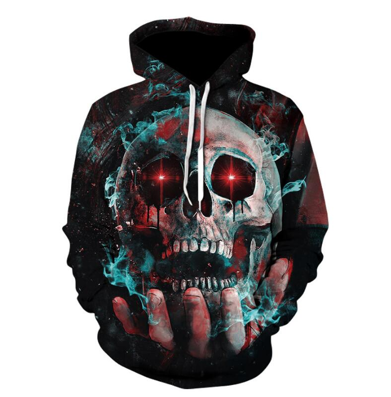 Tracksuits FashionZOOTOP BEAR New design skull poker print Men/Women Hoodies Funny 3D Sweatshirts Autumn Winter Pullover Hooded