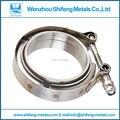 2.5 polegada Normal V-braçadeira Banda com M/F flange kit (aço Inoxidável 304 material) Vband kit braçadeira
