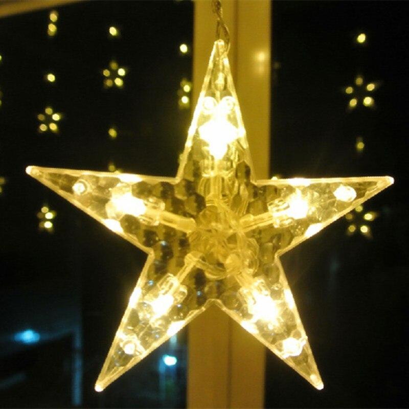 2M 138LED Lampu tali AC 120V / 220V Bintang-bintang berwarna-warni - Pencahayaan perayaan - Foto 5