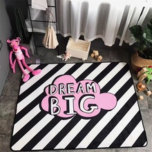 Fashion Oblique Stripe Pink Dream Living Room Bedroom Decorative Carpet Area Rug Bathroom Floor Door Baby Kids Crawl Play Mat