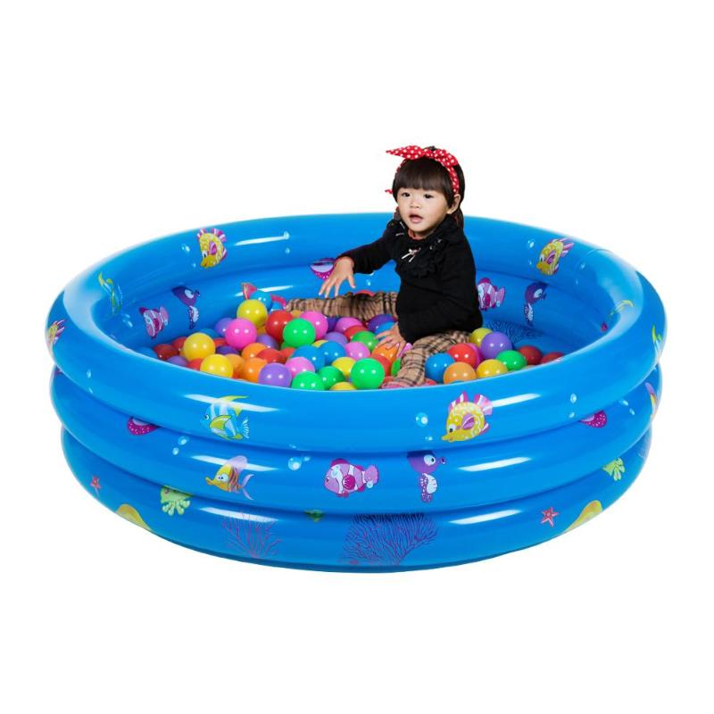 f18987bdad37 US $13.22 30% OFF|3 Size Baby Swimming Pool Trinuclear Inflatable Bathtub  Piscina Portable Outdoor Bathtub Children's Plastic Basin Kids Toy-in ...