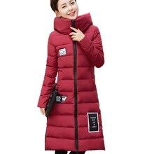 Nice Winter Women Jacket Warm Slim Long Hooded Female Coat New Female Plus Size Zipper Ladies Parkas