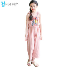 55d37b298037 Teen Girls Overalls Jumpsuits Summer 2018 New Arrival Teenagers Loose  Overall Pants Size 5 to 14