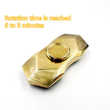 Rotation time is reached 6 to 8 minutes copper EDC Hand Spinner Fidget Spinner Anti Stress Focus Toy Hand Spinner for ADHD