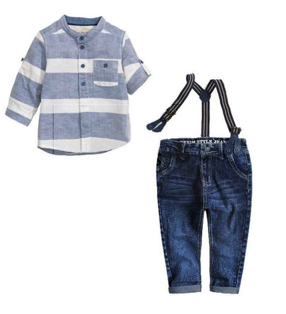 a6f5130b53 Children's Clothing Set High Quality Boy Sling Strap Suit Kids clothes  roupas de bebe menino boys suit loose-fitting belt Set