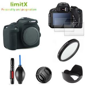 Image 3 - Full Protect Kit Screen Protector Camera case bag UV Filter Lens hood Cap pen Blower for Canon EOS 2000D Redel T7 18 55mm lens