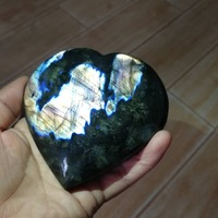 2019 hot 110MM sale 100% natural labrador stone rare purple aura healing heart gift Free shipping
