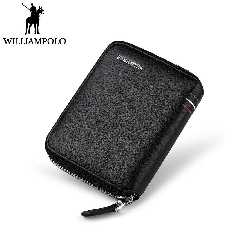 WilliamPOLO Small Wallet Zipper Purse Genuine Leather Men Wallet Mini Short Pouch Black Brown Blue 2018 Trendy Style лаки для ногтей konad stamping set стемпинг сет для начинающих