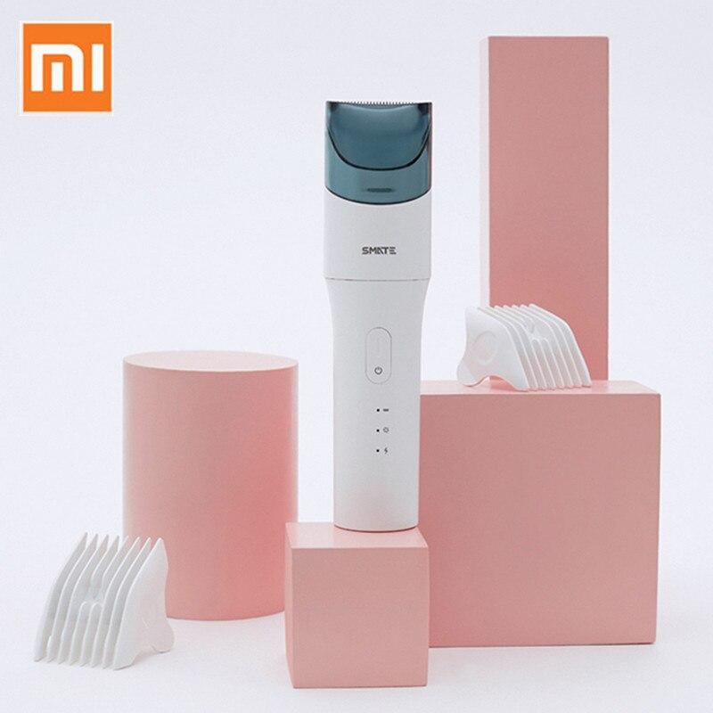 Xiaomi Smate électrique tondeuse à cheveux tondeuse USB Rechargeable pour adultes enfants silencieux Auto cheveux aspiration tondeuse à barbe SH-EC31
