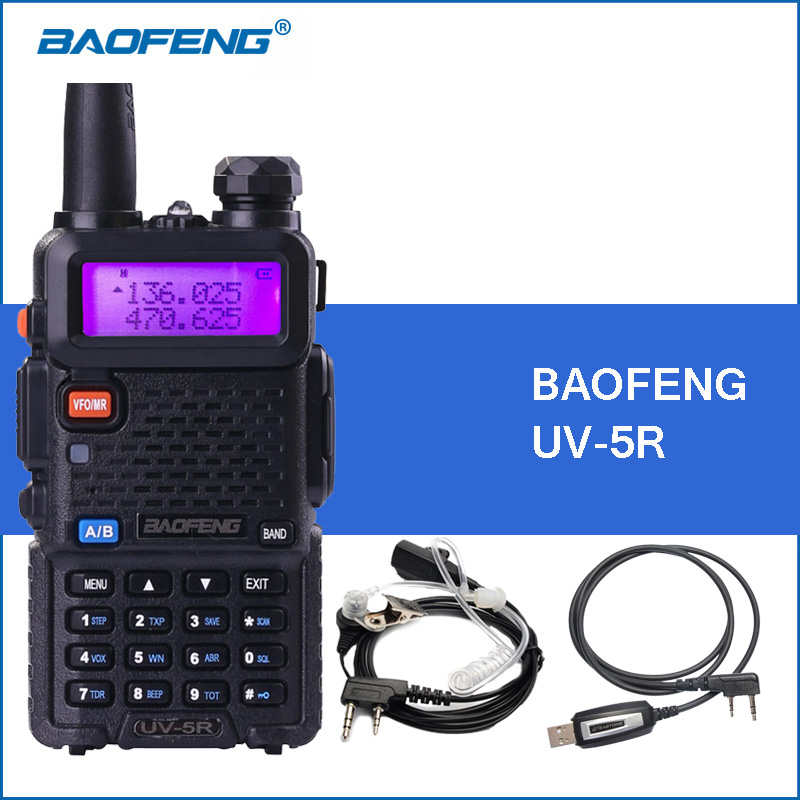 Baofeng UV-5R Tragbaren Funksprechgerät UV5R UHF VHF Dual Band Zweiwegradio 5r Handheld Walkie Talkies Schinken CB Radio Commmunicator