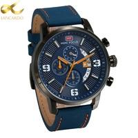 Lancardo Watches For Men Hour Calendar Week Mens Watches Top Brand Luxury Quartz Watch Man Leather