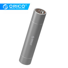 ORICO 2600mAh Externe Batterij 5V1. 5A Aluminium Power Bank met SOS Zaklamp Draagbare Silver/Golden/Roze(China)