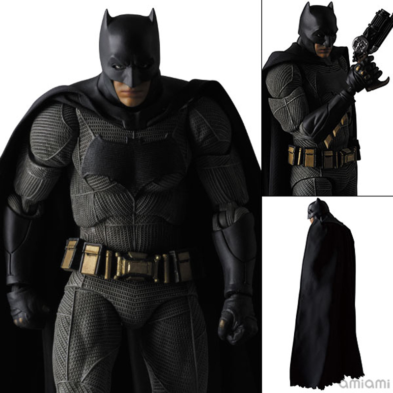 MAFEX NO.017  COMICS Armored Batman v Superman: Dawn of Justice Batman PVC Action Figure Collectible Model Toy 16cm luxury brand vintage handmade genuine vegetable tanned cow leather men women long zipper wallet purse wallets clutch bag for man