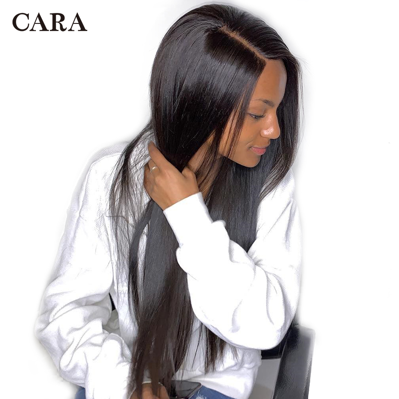 250 Density Lace Front Human Hair Wigs Straight 13x6 Lace Front Wig Brazilian Pre Plucked Lace Front Wig Deep Part CARA Remy Wig
