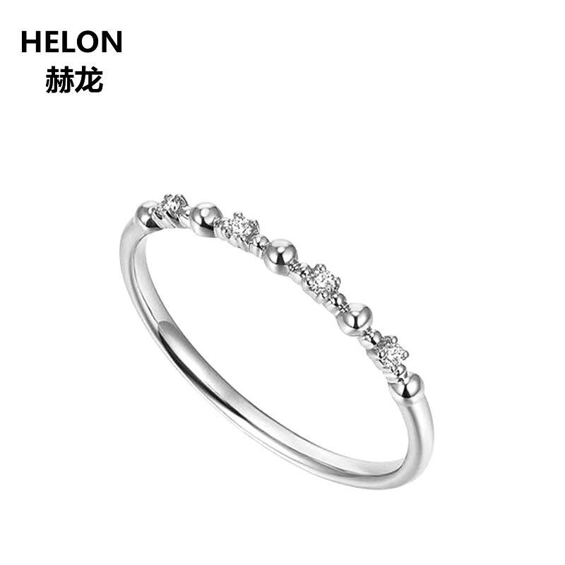 Женское Обручальное кольцо с натуральными бриллиантами, 10 к, белое золото, юбилей, обручальное кольцо, изысканные ювелирные изделия, приним