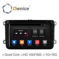 Ownice C300 Android 4.4 4 Rdzeń Samochód DVD GPS Radio dla VW Golf 5 6 Polo Passat Jetta Tiguan Touran Seat Skoda Octavia wsparcia DAB +