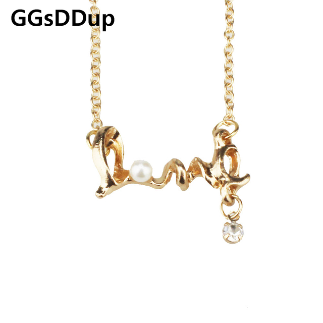 Promotion fashion chic LOVE word necklace fashion necklace jewelry X4234