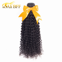 ALI BFF Mongolian Kinky Curly Hair Weave Bundles Remy Hair Bundles Human Hair Extensions Can Mix Length Free Shipping