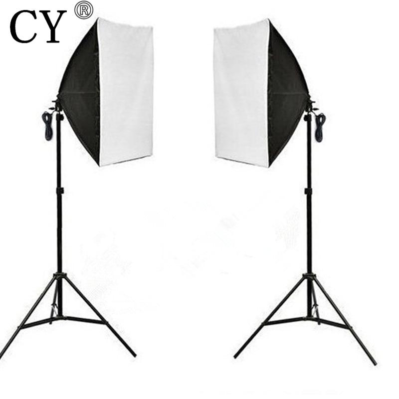 CY Photography Studio Continuous Soft Box Lighting Kits 50x 70cm Softbox*2+Light Stand*2 Photo Studio Set Hot Selling