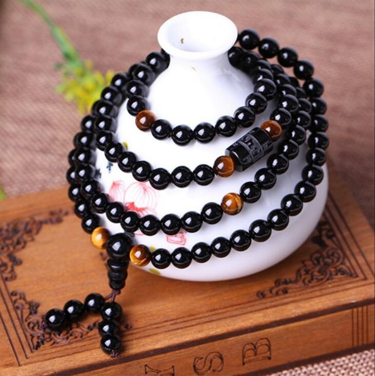 Tiger Eye 108 Beads Mala Bracelet 2