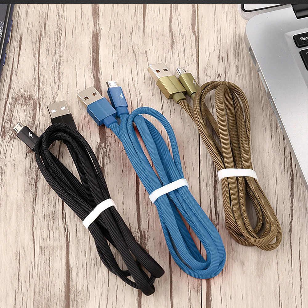 Fbyeg Pengisian Cepat 3A USB Tipe C Kabel Micro Kawat untuk Samsung Iphone Data Sync Tali Kawat Cepat Pengisian Ponsel telepon Kabel