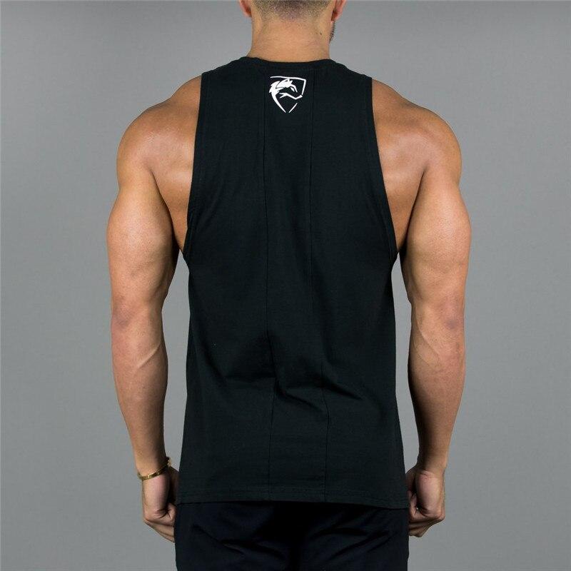 New Mens Sleeveless Tank Tops Summer Print VQ Cotton Male Tank Tops gyms Clothing Bodybuilding Undershirt Golds Fitness tank top