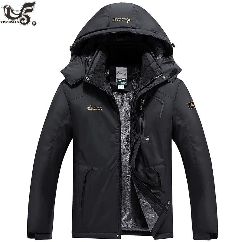 XIYOUNIAO new Outwear Winter Jacket Men Windproof waterproof Hood Male Jacket thicken Warm Men   Parkas   coat Size L-6XL