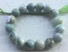 Jewelry Pearl Bracelet Certified 100% Natural A JADE Jadeite 13 mm bead Elastic bracelet Free Shipping(China)