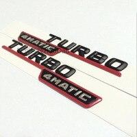For Mercedes Benz A45 AMG 4 Matic Turbo Letter Refit Refitting Sticker Emblem Decals A45 Turbo 4Matic Turbo Fender Logo Emblem