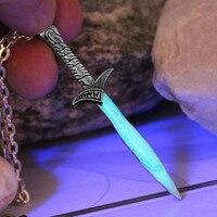 Bilbo Baggins SWORD necklace GLOW in the DARK Luminous The Hobbit The Sting sword Pendants & Necklaces