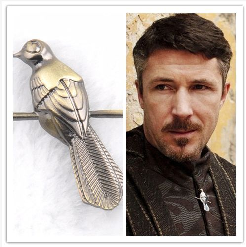 TV Game of Thrones Petyr Baelish Little Finger Clothing Brooch Cosplay Accessory Game of Thrones Bird Pins