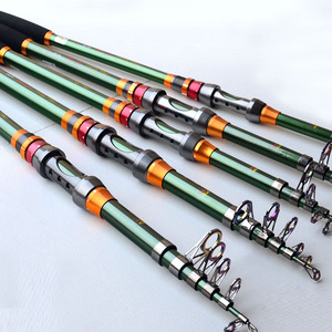New Arrive Telescopic Fishing Rods 2.1m-3.6m Green Distance Throwing Rod Carp Fishing Spinning Rod Vara De Pesca De Carbono