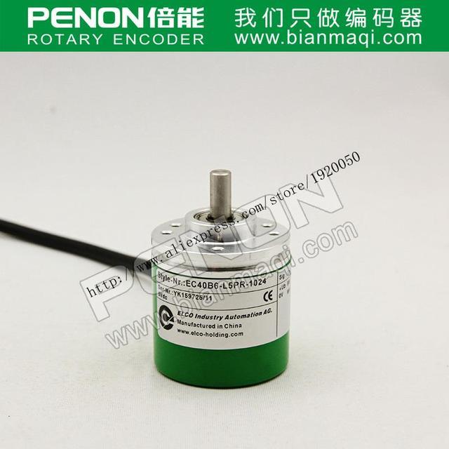 Stock EC40B6-L5PR-1024 Elco ELCO 1024 línea de eje macizo codificador rotatorio 6mm