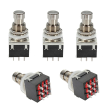 Wholesale 5X 5X Black 3PDT 9-Pin Guitar Effects Stomp Switch Pedal Box Foot Metal True Bypass
