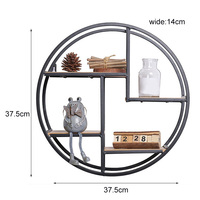 Wall Shelf Round Floating Storage Holders For Home Decoration Bedroom Living Room