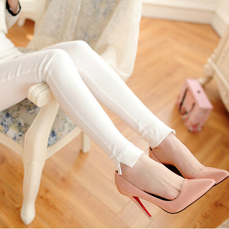 women casual Pants leggings black white Skinny Leggings Plus size S-XL Slim Pencil Pants breathable jeggings Pantalon Femme