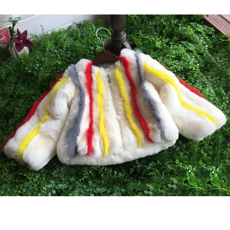 Children's clothing girl imitation bunnies plush fur coat baby thick warm jacket autumn and winter clothes children girls blouse