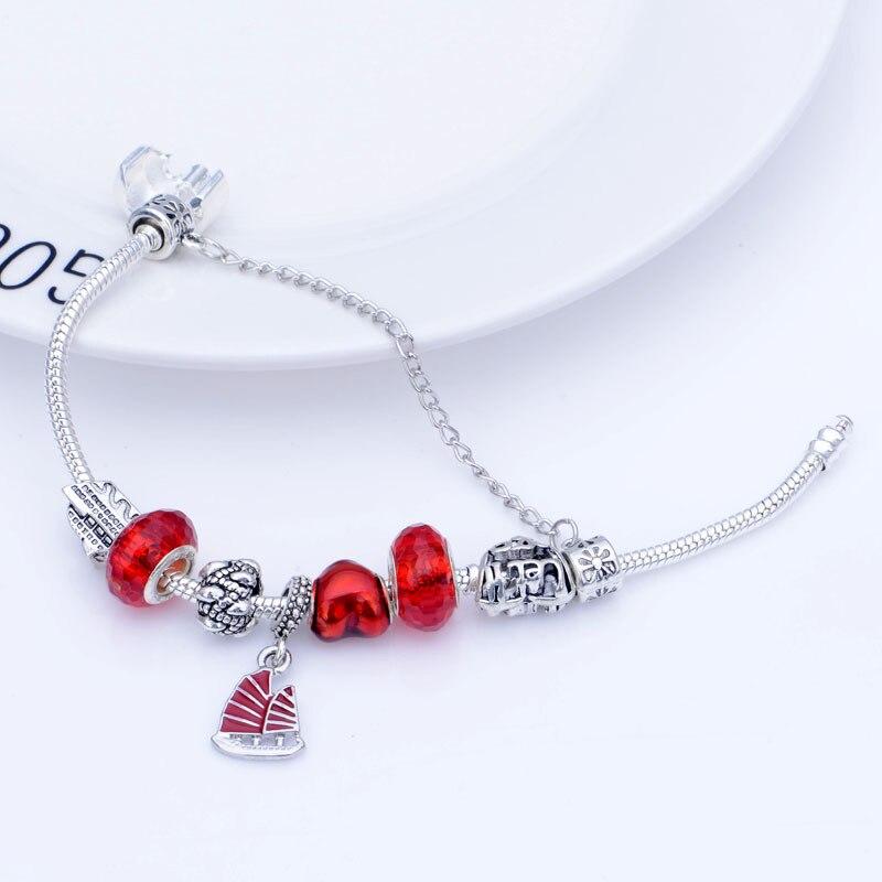 SPC Emeline Charme Perlen Armbänder mit Unsichtbare Einstellung Beige Glas Perlen & Legierung Perlen mit Künstliche