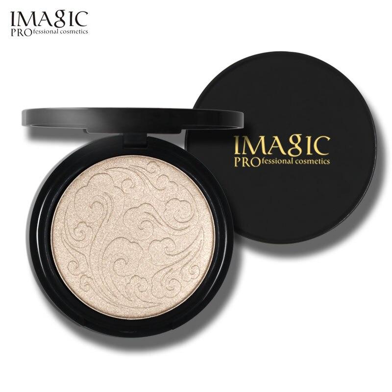Imagic highlighter em pó moda feminina bronzer em pó de alta isqueiro maquiagem profissional clareamento contorno facial 1pcs